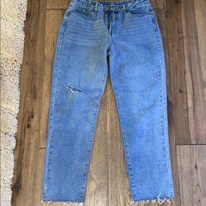 Cute Wide-legged Ripped Jeans